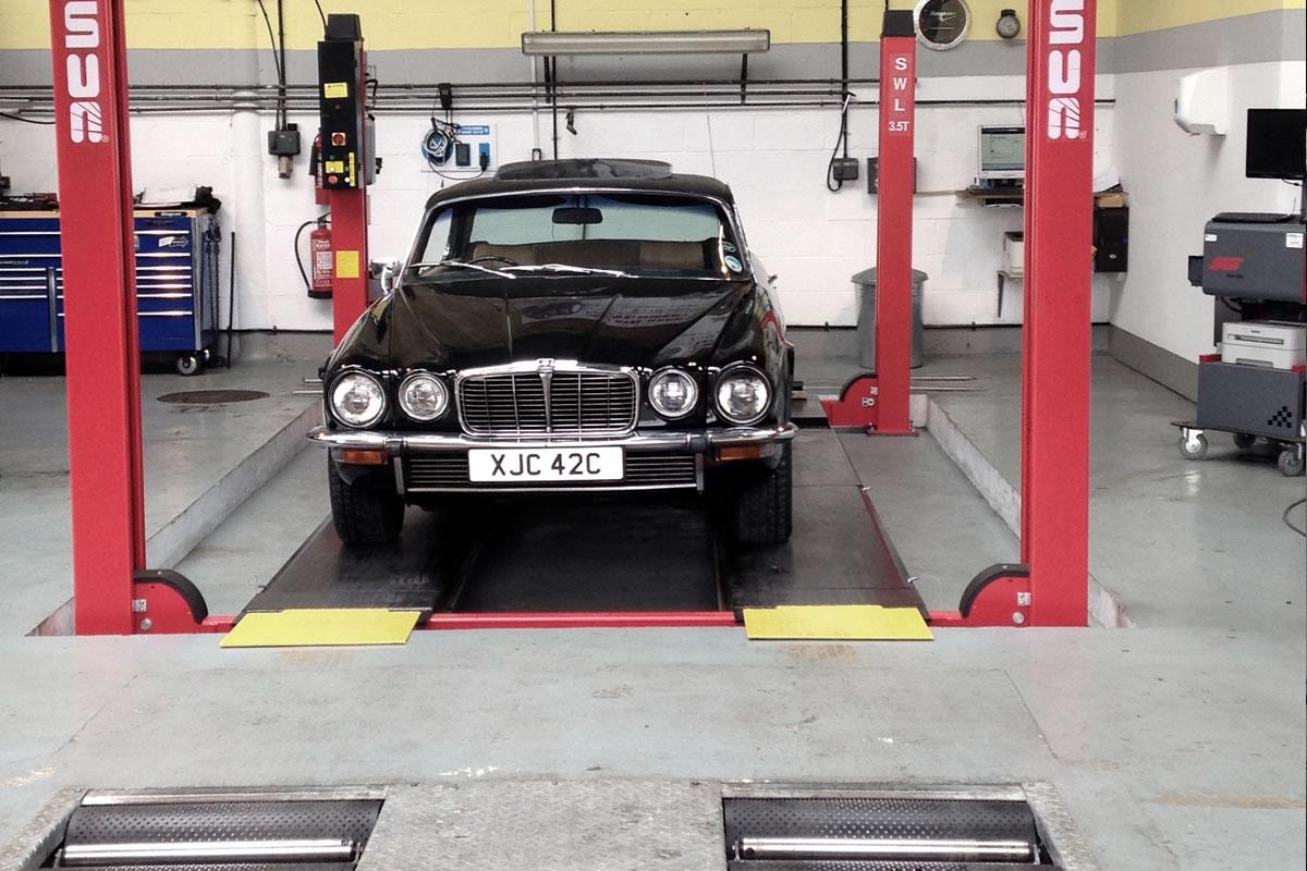 Historic Jaguar restored