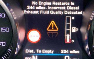 Jaguar dosing error - Incorrect Diesel Exhaust Fluid Quality Detected