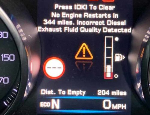 Jaguar incorrect diesel exhaust fluid quality and Dosing Error