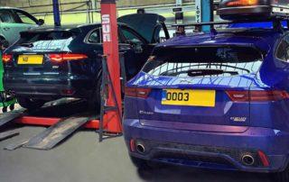 Next Generation Jaguar - Blue E PACE Car