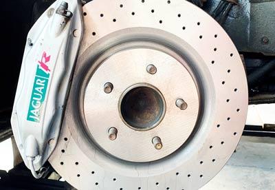 Jaguar Car Repairs - Photo of disc brake